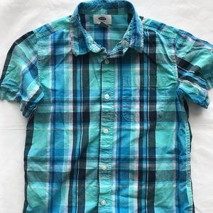 Old Navy Boys Plaid Button Down Size M (8)